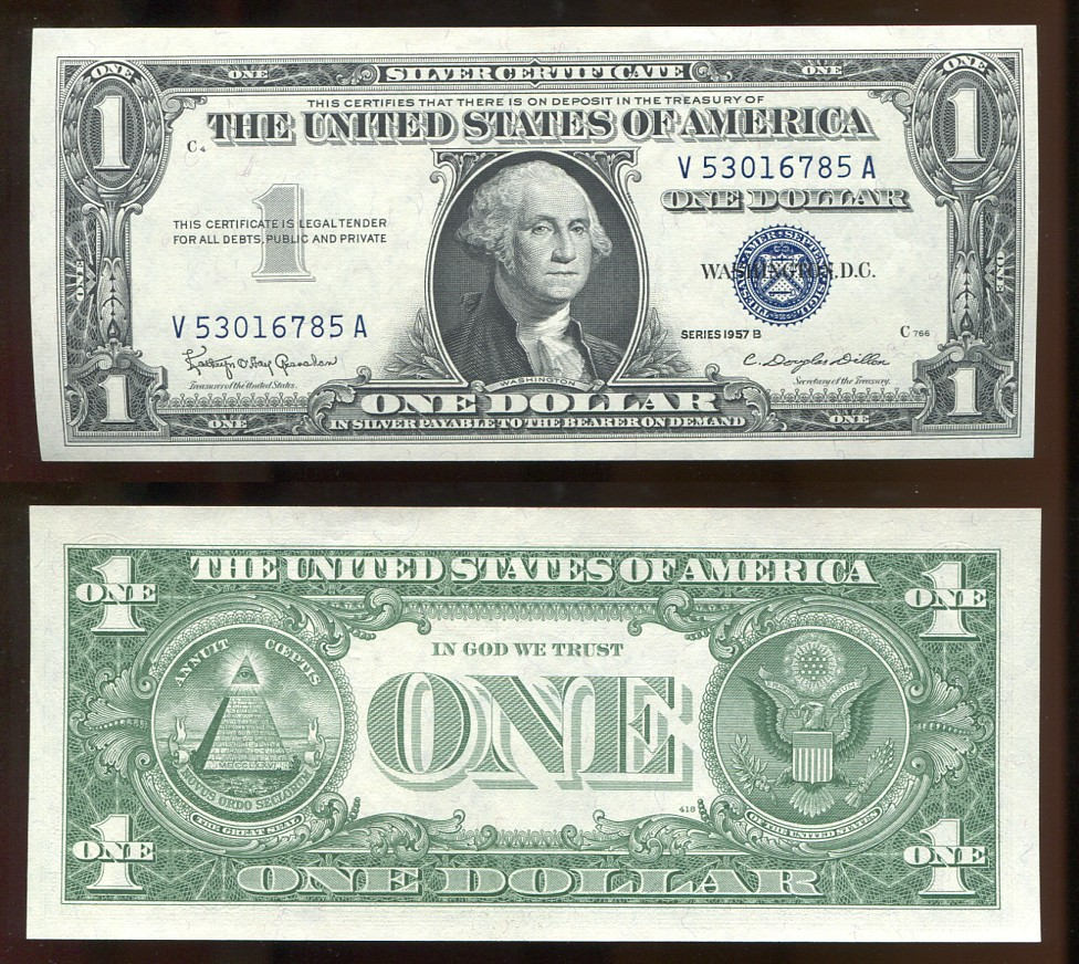 100 Silver Certificate 1957b Uncirculated Kenmore Collectibles