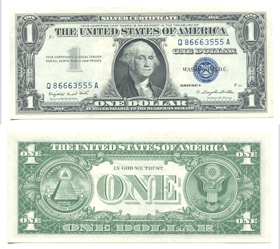 100 Silver Certificate 1957 A Series Uncirculated Kenmore