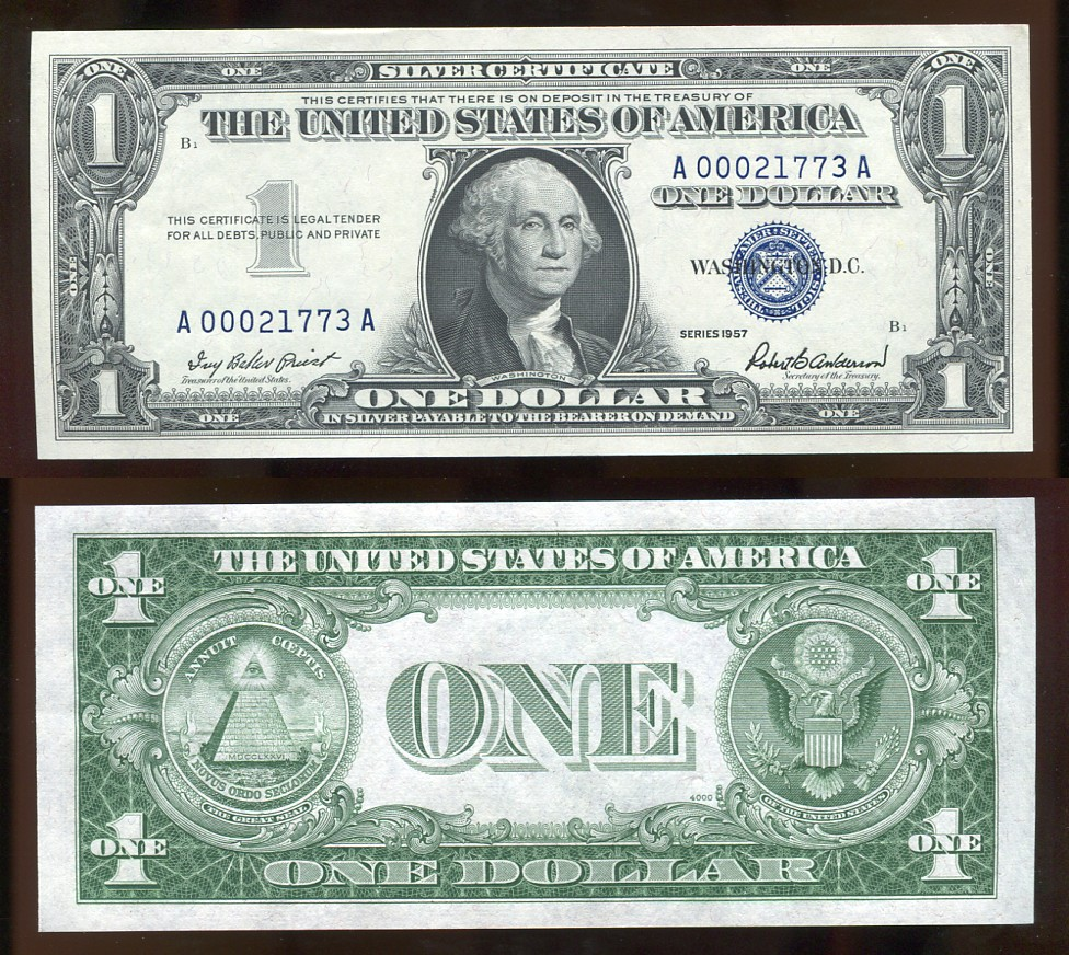 100 Silver Certificate 1957 Uncirculated Kenmore Collectibles