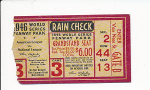1946 World Series Ticket