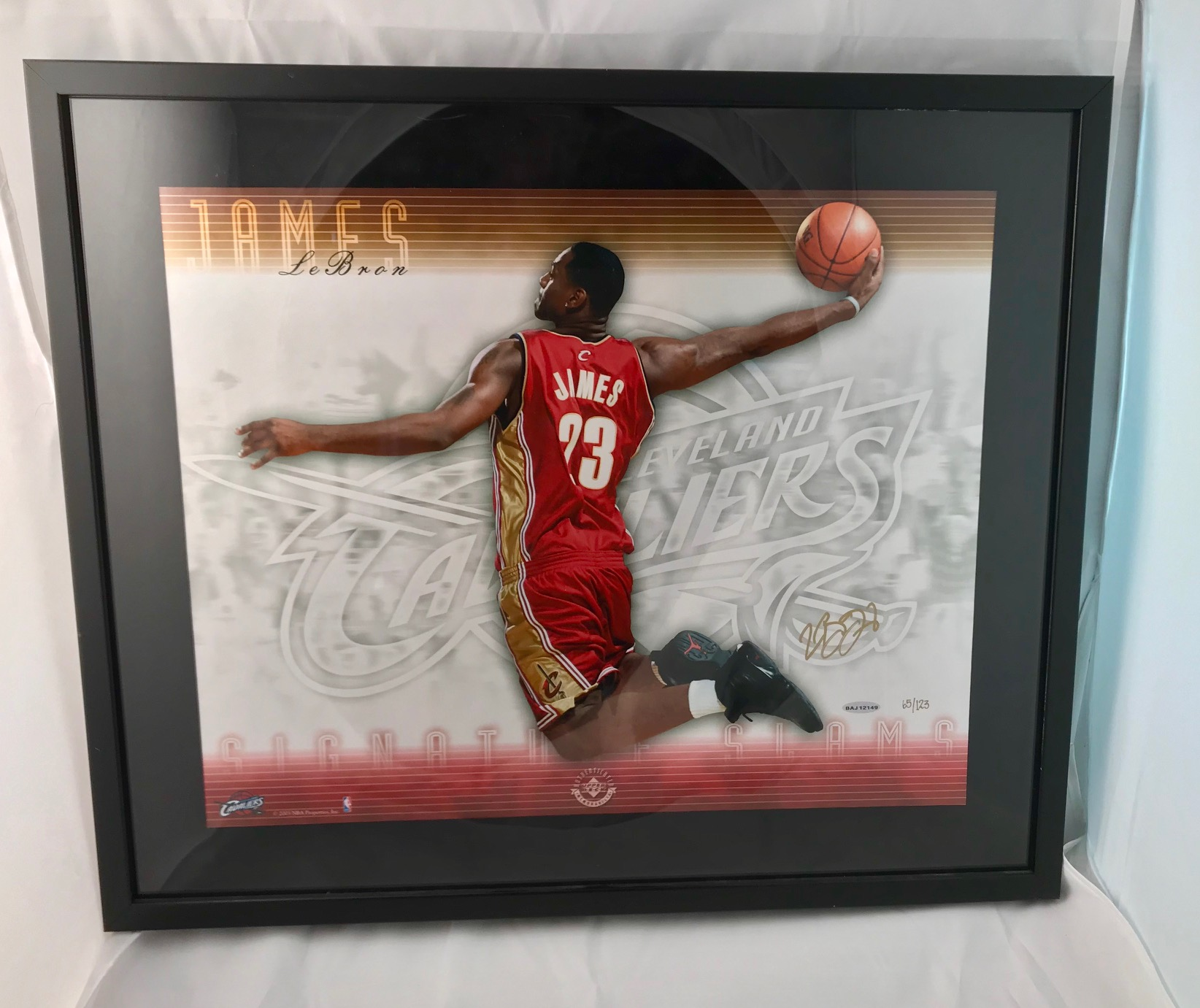 LeBron James Signed Lithograph From Rookie Year. UDA. #65
