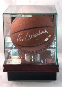 Red Auerbach signed basketball with JSA LOA