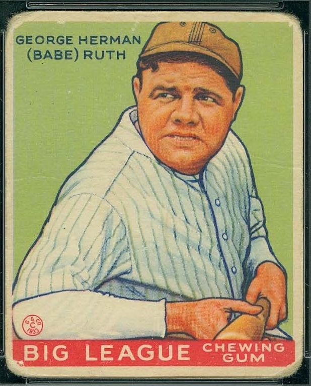What Are 1933 Goudey Babe Ruth Cards Worth Kenmore