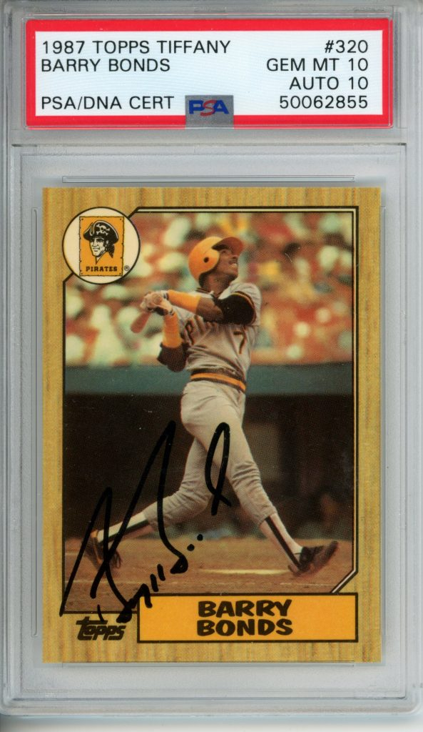 Todays Find 1987 Topps Tiffany Barry Bonds Signed Psa 10 Gem Mint