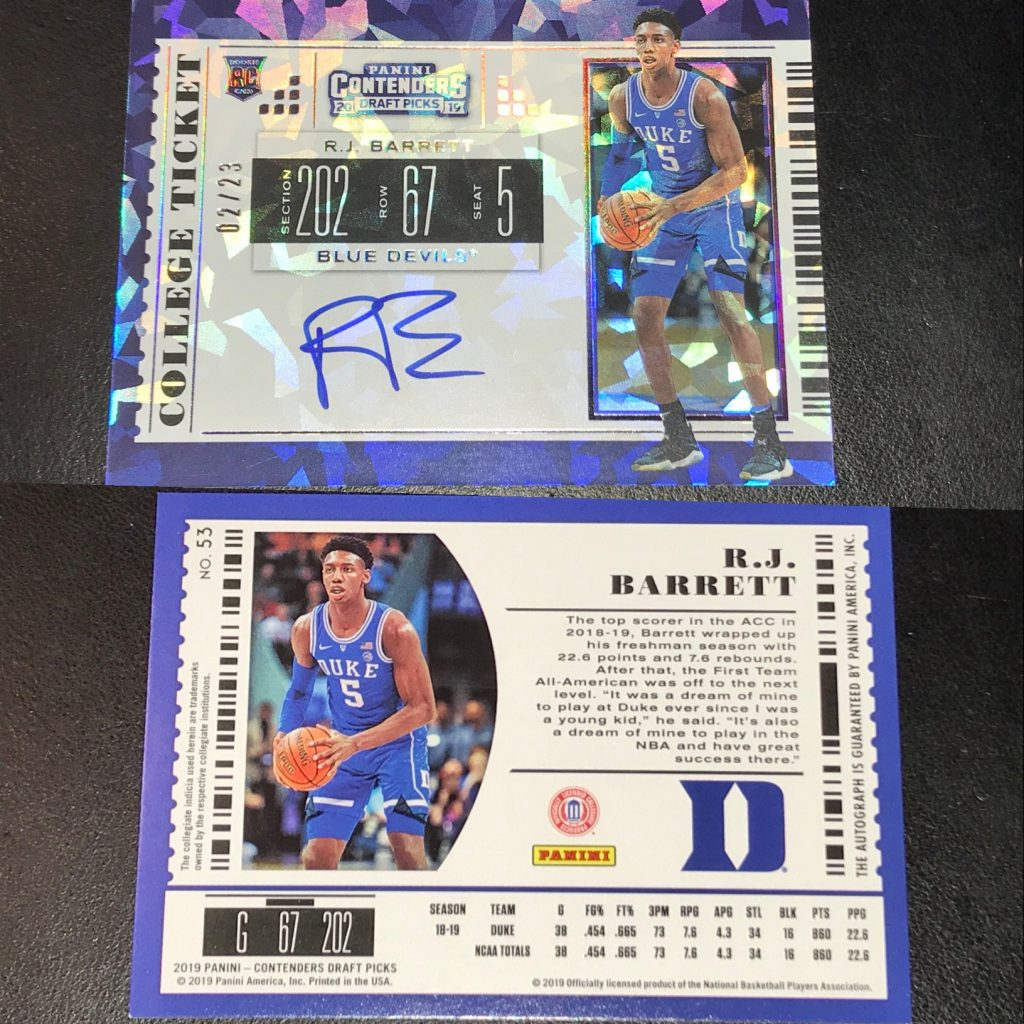 Kenmore Collectibles is selling Panini Contenders Basketball