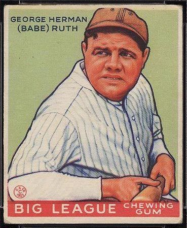 Kenmore Collectibles buys 1933 Goudey Babe Ruth cards