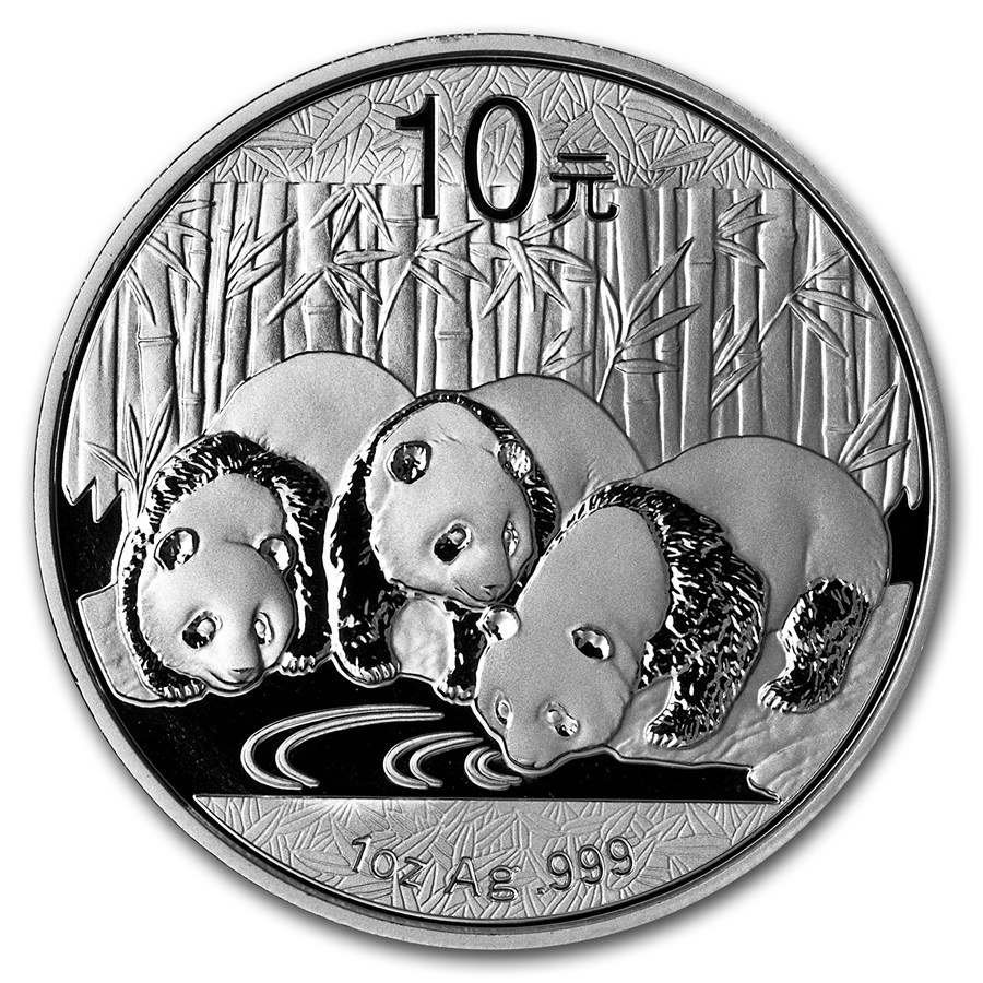 Ing One Ounce Silver Chinese Panda Coins China 1 Oz